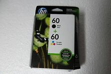 HP 60 Tri-color/Black Ink Cartridges F2480 C4680 D2660 Exp: 11/2018 N9H63FN NEW