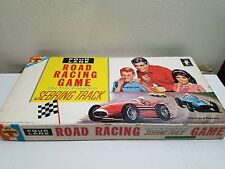 VINTAGE 1963 TRANSOGRAM FOUR LANE ROAD RACE BOARD GAME GOOD SHAPE