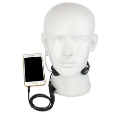 New R-151 1Pin Earpiece Covert Air Tube Headset Throat Mic PTT for Mobile Phone