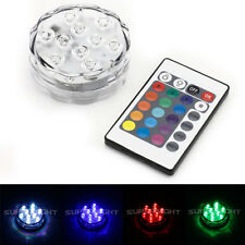SUPERNIGHT® RGB 10 LEDs Light For Vase Wedding Party Tank Submersible Waterproof