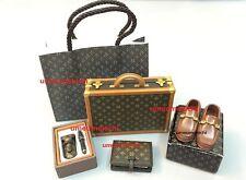 Re-ment dollhouse miniature men's briefcase shoes wallet pen holder 2005