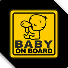 3M Reflective Baby On Board Magnet Sticker Car Sticker Decal 12x12cm Type F