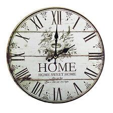 Ø29 cm Wanduhr Uhr Wohnzimmer Küchenuhr Röhmische Zahlen Vintage Shabby Chic