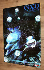 Dreamcast Sega Ecco the Dolphin Defender of the Future / Rayman 2 Poster 81x58cm