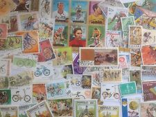 100 Different Bicycles/Cycling on Stamps Collection