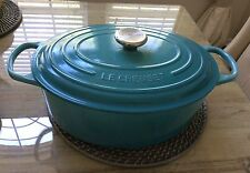 Le Creuset #31 Cast Iron 6.75qt Oval French Oven Caribbean