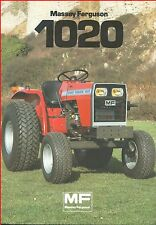 French Original  Prospect  Tracteur Tractor Massey Ferguson MF 1020 _  2 Pages