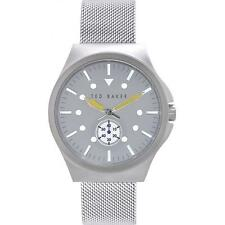 TBNP TE3042 Ted Baker Mens Day Display Stainless Steel Mesh Bracelet Watch