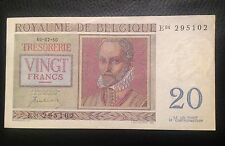 1950 20 Francs Belgium pick 132a Franc Bank Note Unc Excellent