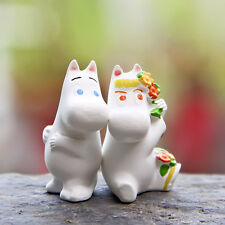 2 PCS Moomin Valley Muumi Little My Floren Hippo Figure Collection Garden Decor