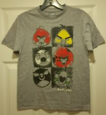 New Angry Birds Star Faces Youth Medium T-shirt Video Gaming Tee