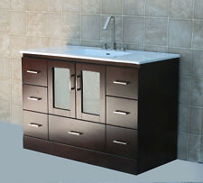 "48"" Bathroom Vanity Cabinet Ceramic Top Integrated Sink + Faucet MCT"