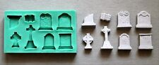 Silicone Mould TOMBSTONES SMALL Sugarcraft Cake Decorating Fondant / fimo mold