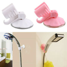 2x Bathroom Shower Head Holder Adjustable Attachable  Wall Suction Cup Bracket#