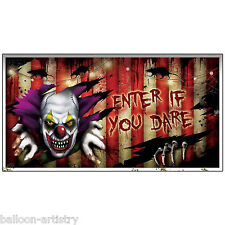 1.65m Halloween CREEPY CARNIVAL Party Enter If You Dare Banner Decoration