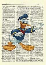 Donald Duck Dictionary Art Print Poster Picture Walt Disney Mickey Mouse
