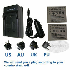 2X Battery + charger For Konica Minolta Dimage X1 NP1 NP-1 Fuji NP-40 NP40