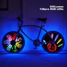 128 RGB LED 18 Patterns DIY Programmable Bicycle Spoke Bike Wheel Light Bicycle
