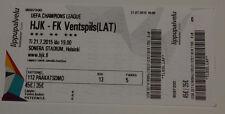 Ticket for collectors CL HJK Helsinki - FK Ventspils 2015 Finland Latvia