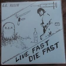 """GG Allin- Live Fast Die Fast repro 7"""" EP KBD Jabbers"""