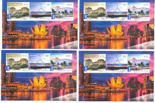 Australia-Singapore Exhibition set of 6 sheets(all Diff)f.used cto-low price