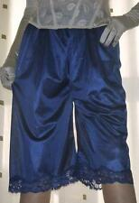Blue silky nylon pantie slip~pettipants~culottes~bloomers size 20~22 BNIP no vpl