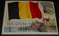 1956 Topps Trading Cards Flags of the World #75 BELGIUM