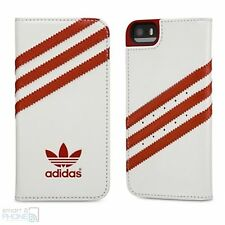 Adidas Originals iPhone 5, 5s, se book case para móvil, funda protectora blanco rojo
