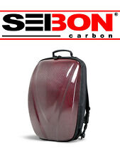 "SEIBON CARBON FIBER HARD SHELL 17"" LAPTOP CAMERA SCHOOL BACK PACK - RED"