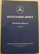 Mercedes Benz 220 & 220a Original Workshop Manual 1951-56 (170 & Ponton Shape)