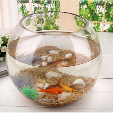 Transparent Glass Bowl Clear Sphere Vase Fish Tank Jar Wedding Event Display