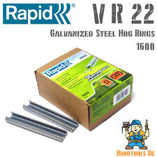 RAPID VR22 Galvanizzato Hog RINGS for FP20 / FP222 RECINZIONE PINZE 1600 Pack BOX Bulk
