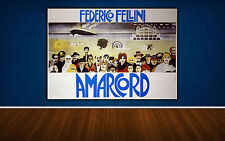 Movie Poster Amarcord 140x100 CM - Federico Fellini