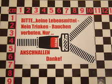 German Seatbelt Sticker BMW Isetta 2002 1602 VW Beetle Karmann Ghia Type 3