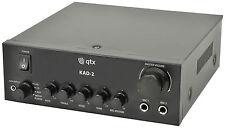 QTX kad-2 DIGITAL STEREO MIXER AMPLIFICATORE musica di sottofondo ALTOPARLANTE PA System DJ