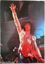 T. REX Marc Bolan On Stage With Les Paul Very Rare Original 1972 Vintage POSTER