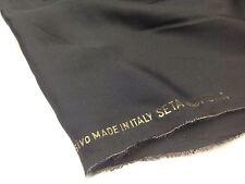 coupon de tissu  pure soie satin de soie  uni noir    : 2 m 60 ; R magkik