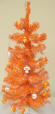 Tennessee Volunteers 2FT Christmas Tree W/12 Assorted Football Ornaments UT Vols