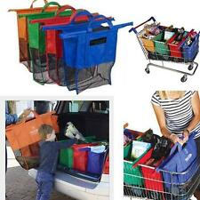 4pcs Set Reusable Grocery Cart Shopping Trolley Bags Cartable Grocery Bag Set