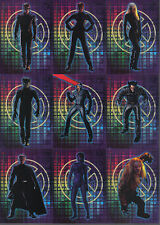X-MEN THE MOVIE COMPLETE SET OF 12 STATIC CLING CARDS
