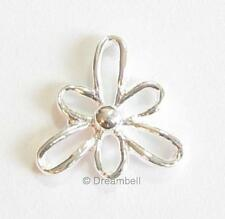 4x Sterling Silver Flower Link Bead Connector 10mm