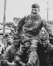 USAF Colonel Robin Olds With Wolfpack F-4 Phantom Pilots Vietnam War Photo