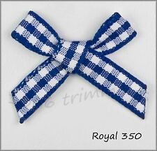 Gingham Ribbon Bows  8 Colours Packet Sizes  15, 50, & 100