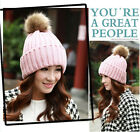 Cute Women Lady's Beanie Cap Winter Warm Beret Braided Beanie Ball Knit Ski Hat