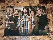 Foo Fighters Signed Poster Print Dave Grohl Nate Mendel Taylor Hawkins Chris Pat