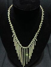 "-chan luu 16 1/2"" Single green natural stone and crystal necklace"