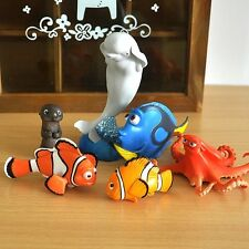 NEW Finding Nemo 2 Dory character Clown Fish Cake Topper Figure Toy Set of 6 AU