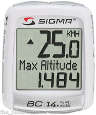 SIGMA BC14.12 Alti Wired Bike Computer Speedometer Altitude Backlit Temperature