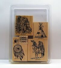 """Stampin' Up! """"DREAM CATCHER"""" Extremely Desirable Set of 6 RETIRED Teepee EUC"""