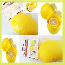 Real Lemon Shape Citrus Holder Lime Guard Saver Keeper Kitchen Storage Plastic
